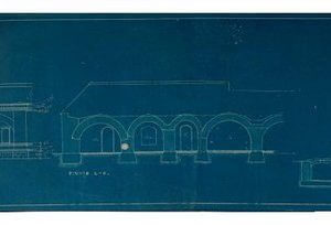 VII-ojo forto pritaikymas archyvui. Architektas V. Dubeneckis (1921 m.)