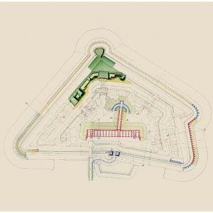 Kauno tvirtovės VII forto planas (1889 m.)