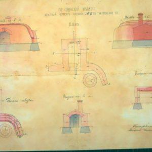 Prieššturminio pabūklo sleptuvės ataskaitinis brėžinys
