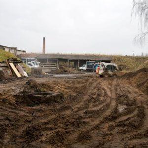 Darbai kairiajame artilerijos kieme (2010 m.)